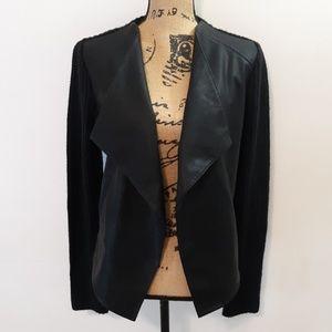 BB Dakota Acrylic & PU Leather Cardigan Jacket M